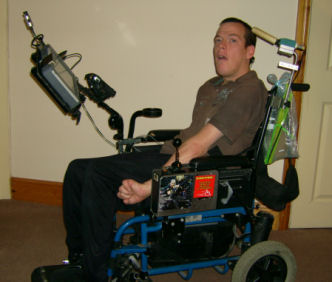 tablet on wheelchair